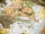 close up map Italy