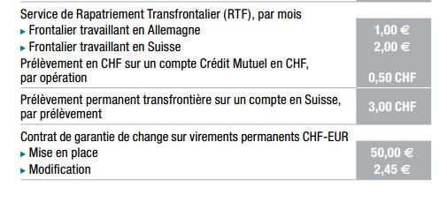Taux de change euro chf credit mutuel - Plafond compte courant credit mutuel ...