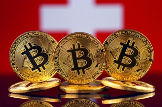 Bitcoin-Swiss-flag