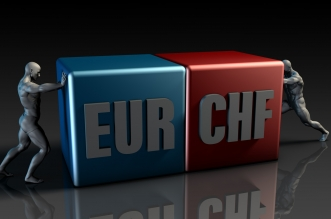 Evolution taux change EUR CHF